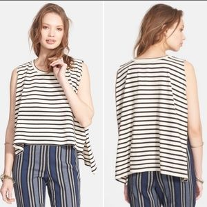 We the Free People Hi Low Striped Tank Top sz sm